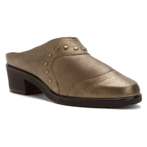 Metal Nappa Footwear - Walking Cradles Women's Click Bronze Antique/Metal Nappa Clog/Mule 8.5 W (D)
