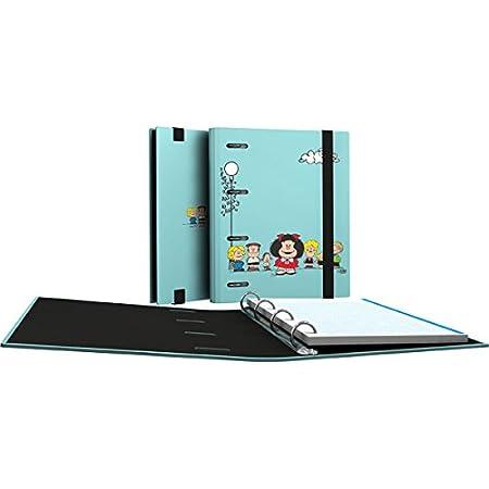 Grafoplás 88111949-Carpeta de anillas troqueladas A5, Diseño Mafalda Pajarito, con 100 hojas de 90g: Amazon.es: Oficina y papelería