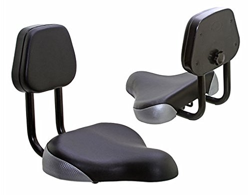 Lowrider Beach Cruiser SEAT with Back 906 Black/Silver. Bike Part, Bicycle Part, Bike Accessory, Bicycle Accessory