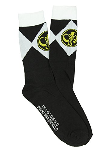 Mighty Morphin Power Rangers Mens Crew Socks