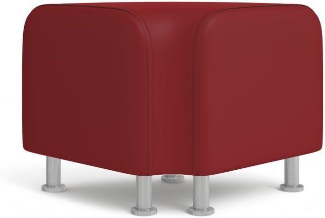 Steelcase Alight Lounge by Turnstone, Fabric = Buzz2 Burgundy ; Shape = Corner; Legs = Solid Wood/Natural Cherry Finish