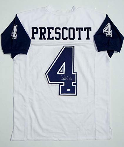 Dak Prescott Signed Jersey - White Alternate Pro Style, used for sale  Delivered anywhere in Canada