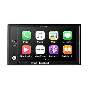 "Alpine ILX-107 7"" Mech-less In-Dash Receiver with Wireless Apple CarPlay"