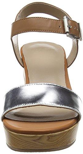 Sandales Cheville PMS Mehrfarbig Ford 011 Femme Bride Sandal Multicolore Dk Silver Cuoio 6wwIFqEx