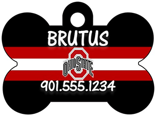 uDesignUSA NCAA Dog Tag Pet Id Tag Personalized w/Name & Number (Ohio State Buckeyes) (Puppy State Ohio)