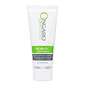 Ongaro Organic Sleep Masque with Probiotic Technology, Organic Aloe Vera, Apple Stem Cells, and Peptides; Facial Pore Minimizer, Firming & Toning While You Sleep; 2oz