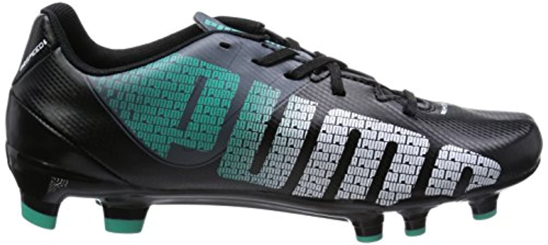 Puma Evospeed 5.3 Studded, Unisex-Child Football Boots, Black (Black/White/Turbulence/Pool Green 03), 1 UK