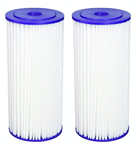 Fette Filter - Heavy Duty Sediment Filter Compatible with R50-BBSA. Also Compatible with GE FXHSC, Pentek R50-BB and Dupont WFHDC3001. Whole House Filters. (2-Pack)