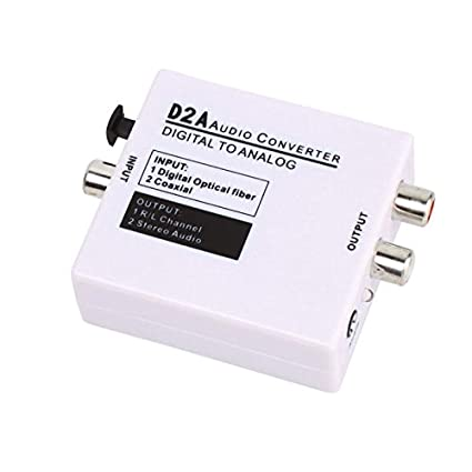 Phoneix External Data Conversion?Optical Coax?D2A Audio Converter Digital to Analog White
