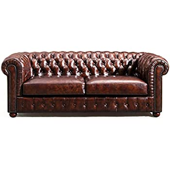 Amazon.Com: Original Chesterfield Leather Sofa By Rose & Moore