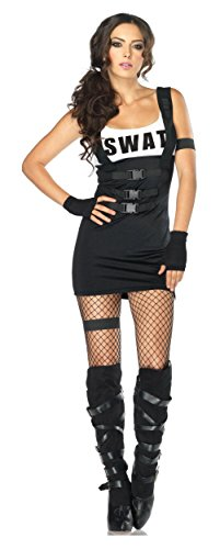 Sultry SWAT Officer Costume - Small/Medium - Dress