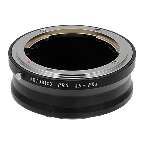 Fotodiox Pro Lens Mount Adapter - Konica Auto-Reflex (AR) SLR Lens to Sony Alpha E-Mount Mirrorless Camera Body (Konica Mount)