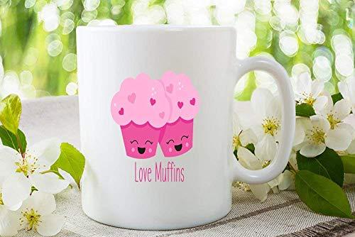- Love Muffins, Anniversary Gift, Anniversary Mug, Stud Muffin, Custom Mug, Personalized, Valentine's Day, Cute Mug Tea or Coffee Mug