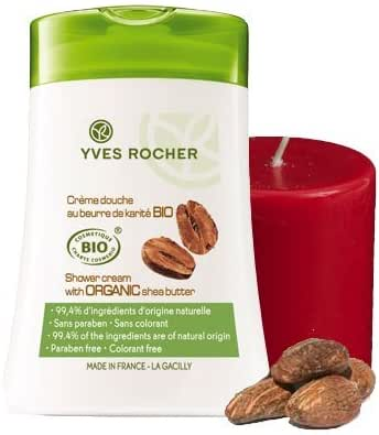 Yves Rocher BIO Organic Shea Butter 2-piece Bath/Shower Gift Set. Imported from France