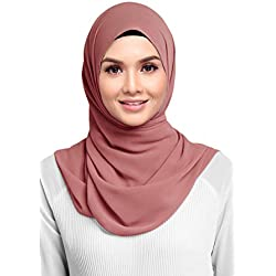 Hana's Womens Georgette Chiffon Hijab (One Size, DustyRose)