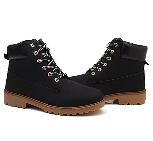 Up Outdoor Boots Lace Men's Snow Black Booties Hiking XIUWU Combat PvCTx