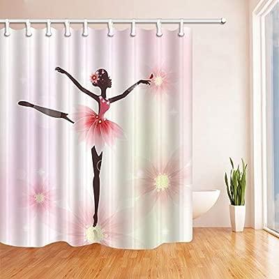 BuEnn Decoración de Yoga Bailarina Bailarina con Flores para ...