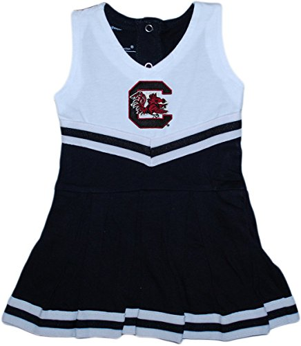 University of South Carolina Gamecocks Baby and Toddler Cheerleader Bodysuit Dress Black