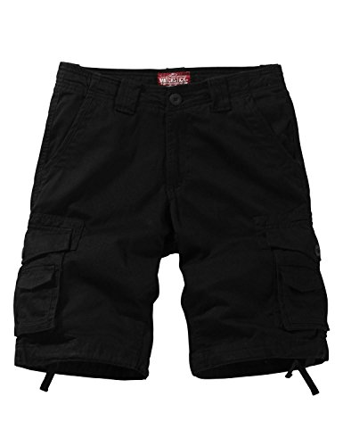 Match Men's Twill Comfort Cargo Short Without Belt #S3612 (Label Size XL/34 (US 32), Black)