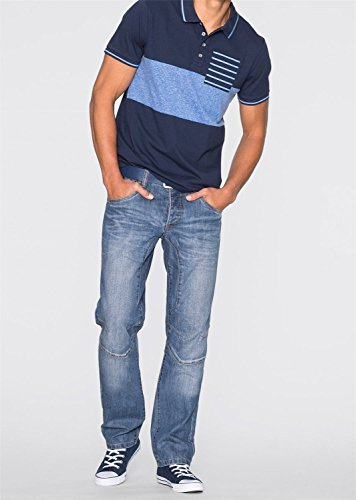 Herren Poloshirt Slim Fit, 142556 in Oliv 44/46 (S)