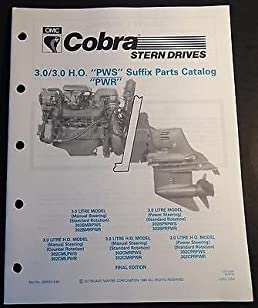 1990 omc cobra stern drive 3 0 3 0 h o pws pwr parts manual p rh amazon com omc sterndrive parts diagram omc sterndrive parts catalog
