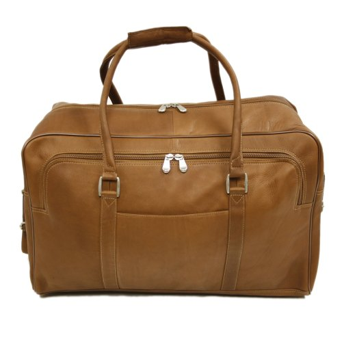 Piel Leather Half-Moon Duffel, Saddle, One Size