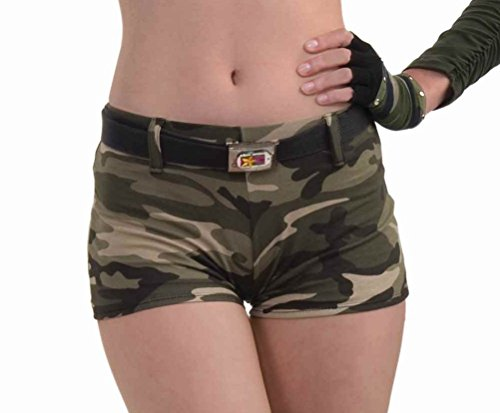 [Forum Novelties Women's Combat Cutie Adult Camo Shorts, Multi, One Size] (Army Halloween Costumes Women)