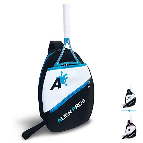 Alien Pros Lightweight Tennis Sling Backpack for Your Racket and Other Essentials – Pack Quickly and Lightly for Tennis and in Life – Tennis Racket Bag Sling Bag for Men and Women, Blue