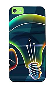 Jysoba-4417-dyysowk Neon Light Bulbs Awesome High Quality Iphone 5c Case Skin/perfect Gift For Christmas Day