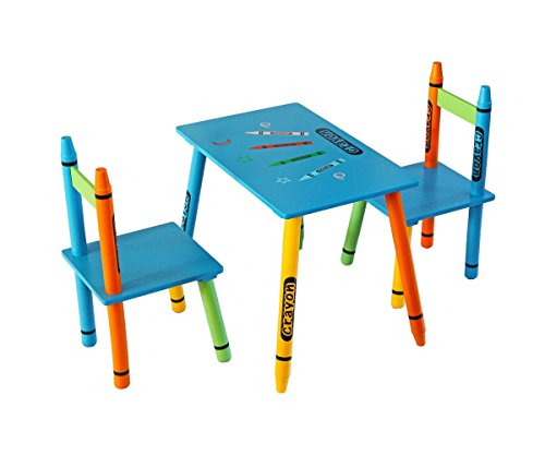 Kiddi Style Childrens Wooden Table and Chair Set , Blue