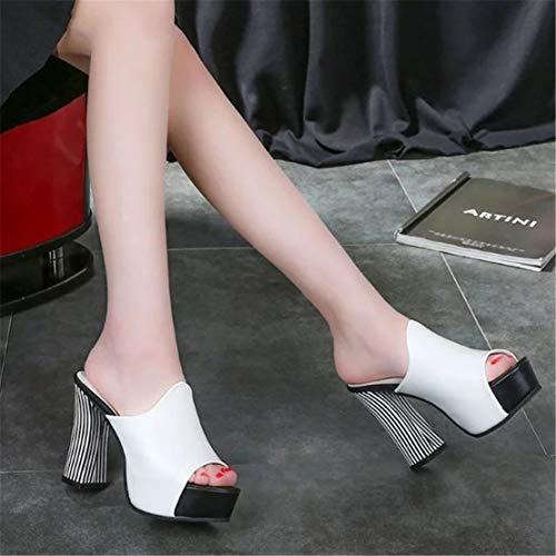 Chaussures Hauts À pour pour Poissons De Femmes YUCH Talons Bouche Loisirs White qdtqB