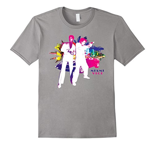 Miami Vice Crockett & Tubbs in Action T-Shirt, men or women