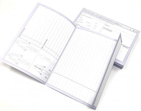 Physiofit24 ® Patientenkarteikarten Karteikarten 250 Stück A5 für Krankengymnastik/Physiotherapie