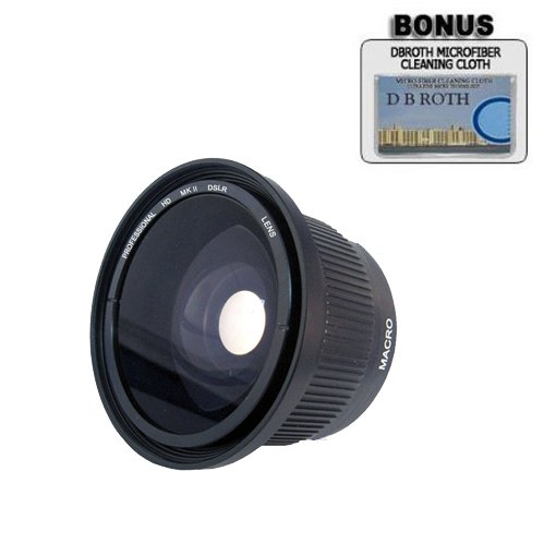 .42x HD Super Wide Angle Panoramic Macro Fisheye Lens For The Canon GL2, GL1, XM2, XM1 Mini Dv Camcorders DB ROTH 4332059486