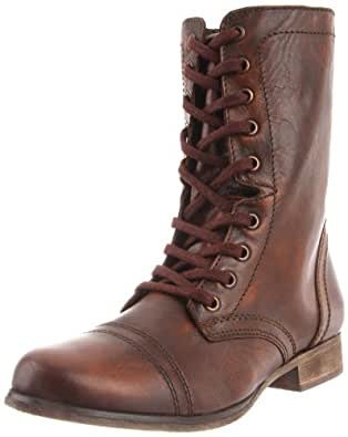 Steve Madden Women's Troopa Boot, Brown Leather, 5.5 M US