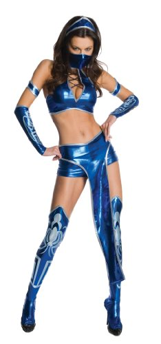 Secret Wishes Womens Kitana Mortal Kombat Costume, Blue, Medium (Mileena Costume)