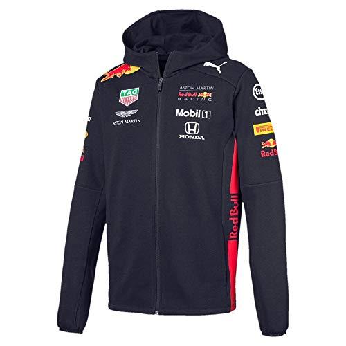 Aston Martin Red Bull Racing F1 Mens Hooded Sweat Jacket 2019 XXL Blue