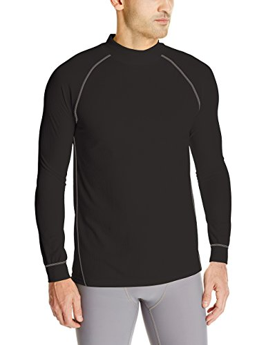 Wolverine Men's Tech Grid Performance Baselayer Long Sleeve Shirt, Black, - Climate Mens Grid