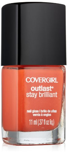 Enamel Mango (Covergirl Outlast Stay Brilliant Nail Gloss, Go-go Mango 245, 0.37 Ounce)