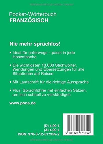 PONS Pocket-Wörterbuch Französisch  Der wichtigste Wortschatz für  unterwegs. Franzöisch-Deutsch Deutsch-Französisch  Amazon.de  Bücher 853813ce43