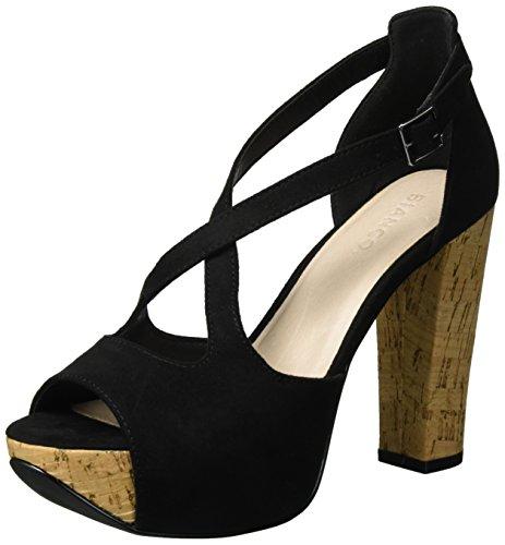 49218 Femme Cross Plateforme Noir Bianco 20 Sandales Black qSnE6
