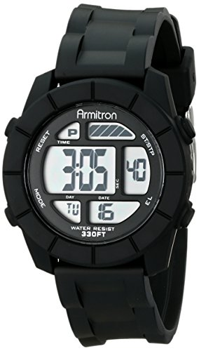 - Armitron Sport Unisex 45/7043BLK Digital Watch With Black Resin Band