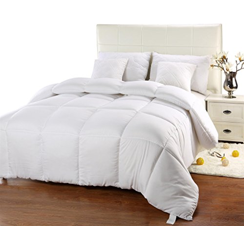 Utopia Bedding Comforter Duvet Insert - Quilted Comforter along with Corner Tabs - Hypoallergenic, Box Stitched affordable option Comforter (Queen, White)