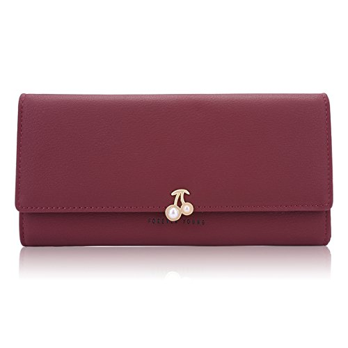 Heart Girl Wallet (Wallets for Women Girls Long Leather Bifold Wallet Credit Card Holder Organizer Small Cute Purse)