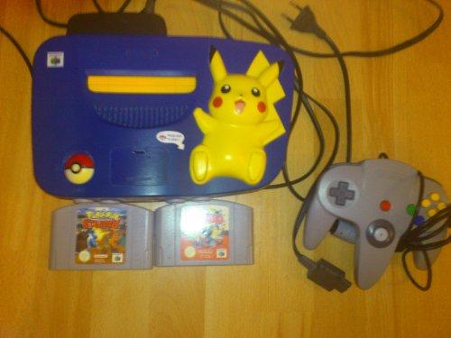Nintendo 64 System Console Pikachu Bundle