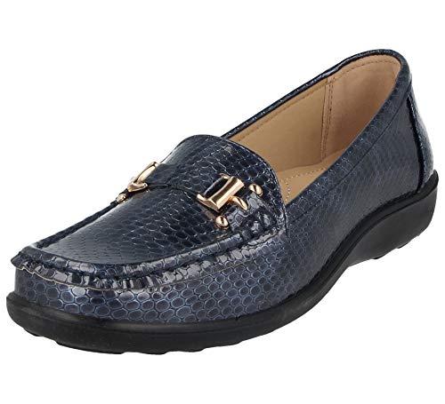 Mocasines de mujer Jo & Joe, con estampado de serpiente: Amazon.es: Zapatos y complementos