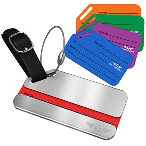 One Privacy Luggage Tags Stainless Steel Metal ID Bag Tag With Lifetime Never Lost Guarantee (Tracker Baggage Gps)