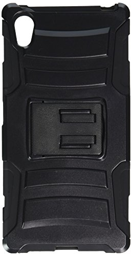 Asmyna Cell Phone Case for Sony Ericsson Xperia Z5 - Retail Packaging - Black (Sony Case Ericsson Phone)