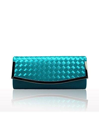 Hellocolorcc - Bolso bandolera Mujer Azul