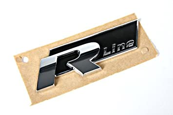 Original VW Pieza repuesto VW R-Line Inscripción Etiqueta Placa (Golf Touran Passat...): Amazon.es: Coche y moto